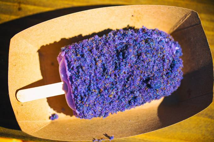 Ube Cake bar, Frozen Kuhsterd, Eat Real Festival 2018, Oakland, California