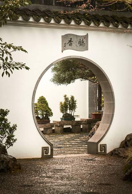 Lan Su Chinese Garden in Portland, Oregon