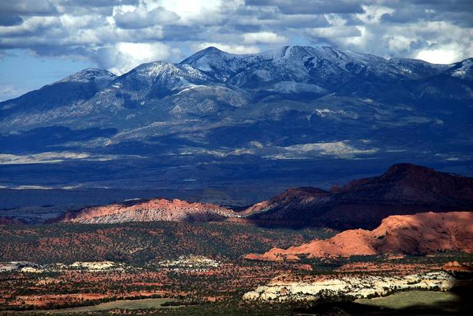 Looking back from Boulder Mountain to the Henry Mountains and Capitol Reef National Park Utah
