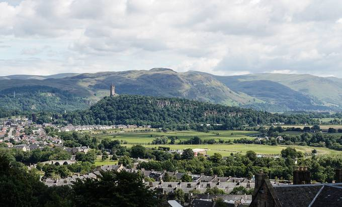 Wallace Monument and Abbey Craig from Stirling