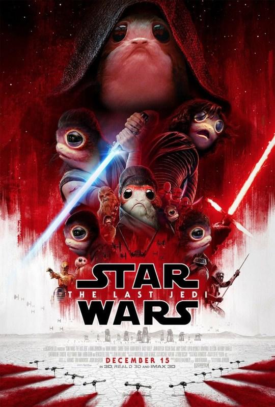 Last Jedi poster covered in porgs