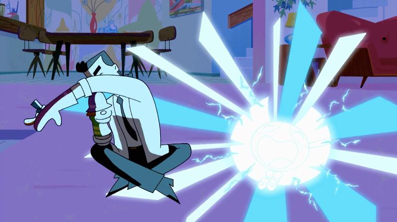 Professor Utonium exploding stuff