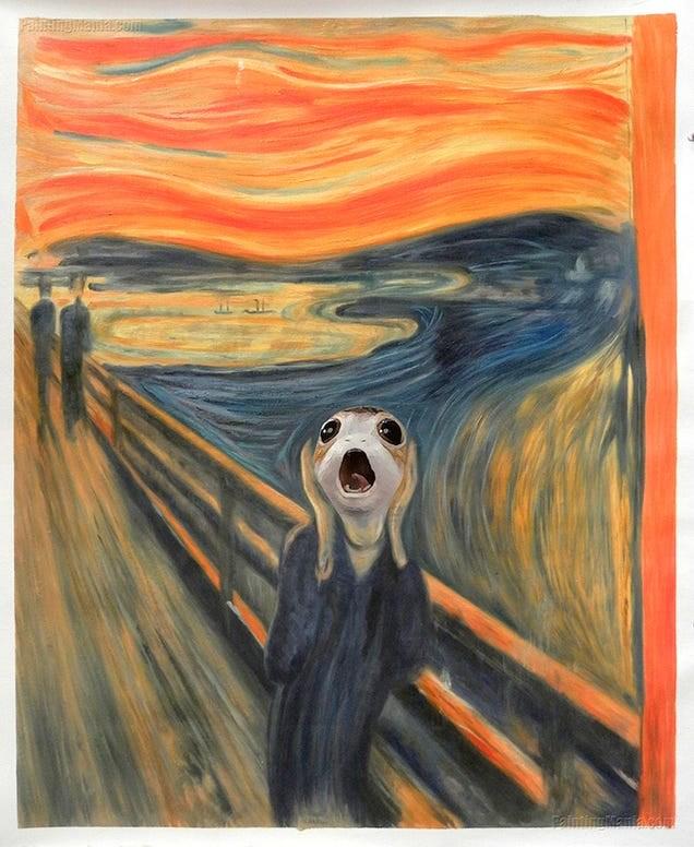The Scream as a Porg