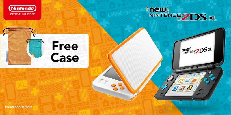 New 2DS xl in charcoal and orange