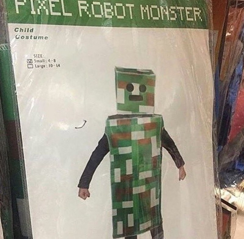 Pixel Robot Monster is actually a creeper