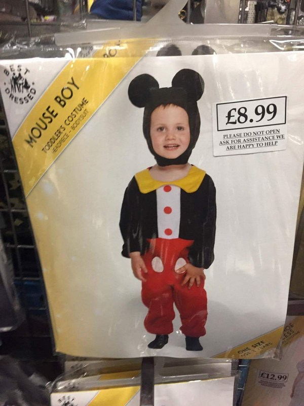 Mouse boy costume