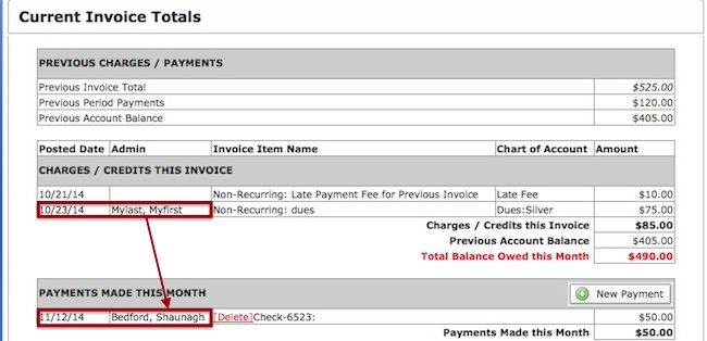 How Do I See What Admin Posted A Payment Or Invoice In The Billing - Invoice payment system