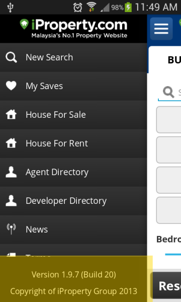How to check the version of the iProperty Apps I've installed