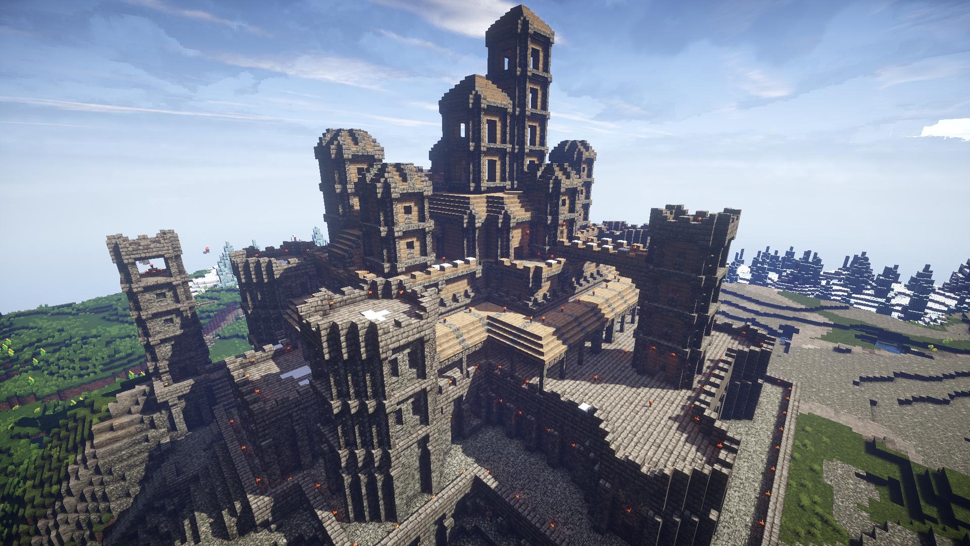 My castle, built in survival mode : Minecraft