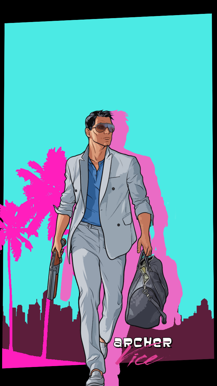 Had some free time, so I made some Archer Vice phone ...