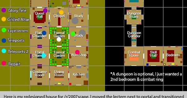 house layout runescape.  Here s my redesigned POH for efficiency fancy hosting 2007scape
