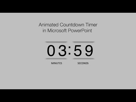 How to Create a Animated PowerPoint Countdown Timer : powerpoint