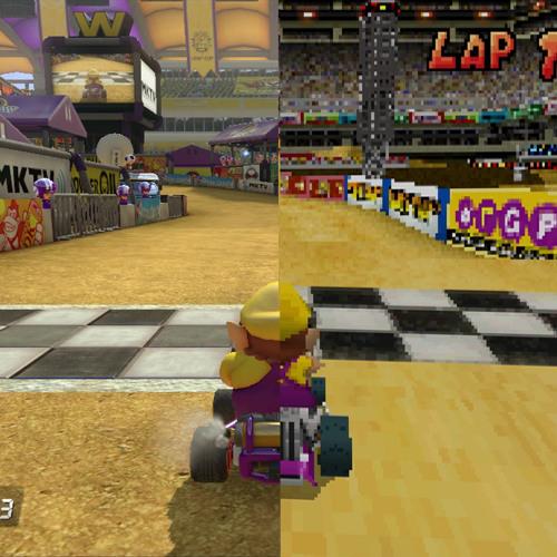 Mario Kart Ds 8 Waluigi Pinball Wario Stadium Mashup Wiiu