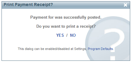 print or email a receipt for tenant payment customer feedback