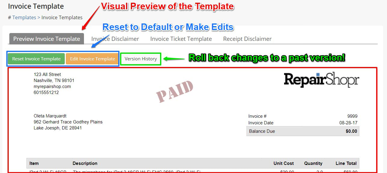 pdf email templates repairshopr help center