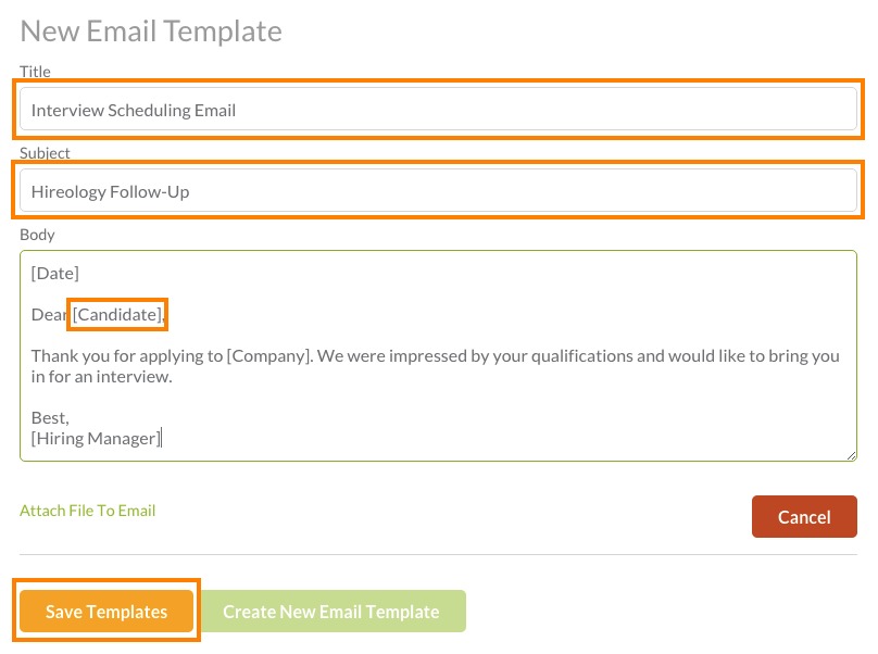 How do I create/edit email templates? – Customer Resources for Hireology