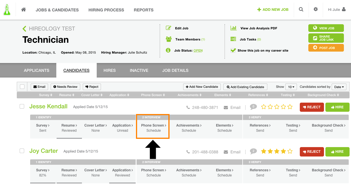 how do i use the phone interview customer feedback for hireology next you will need to click on the start interview button to begin
