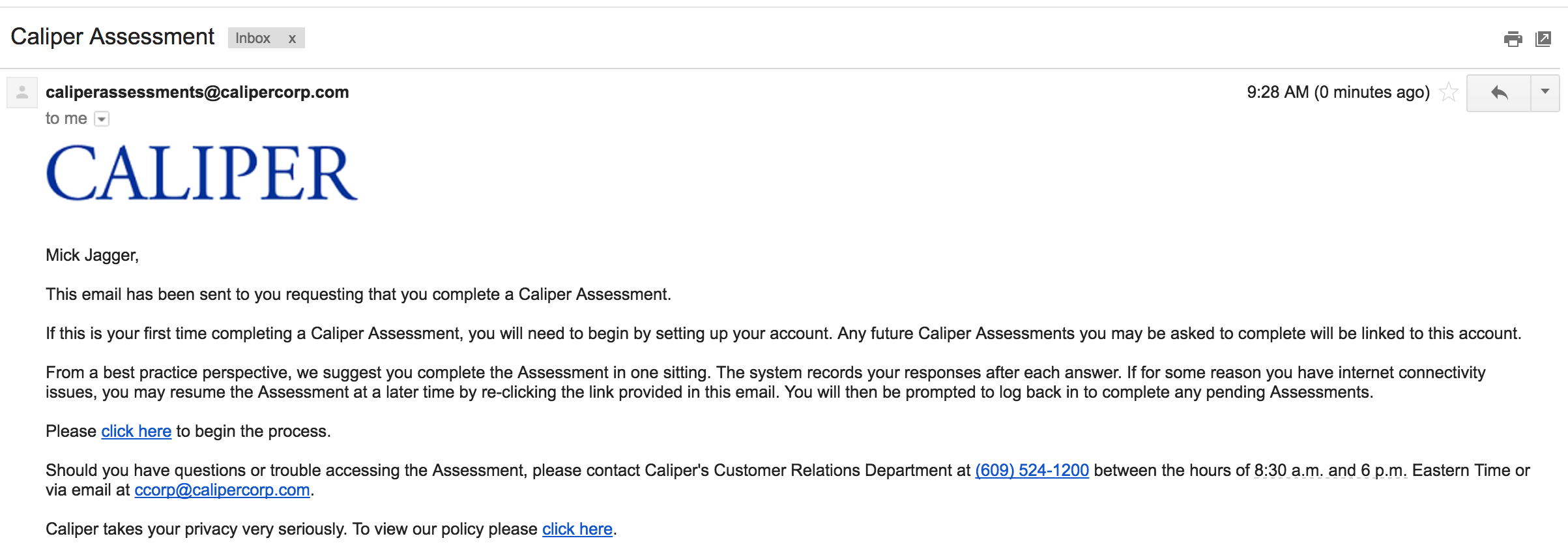 I ordered a Caliper on my candidate  Now what? – Customer