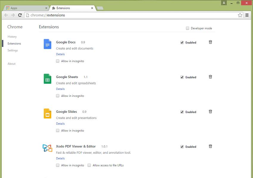 Xodo for Chrome: App versus extension – Feedback for Xodo Docs