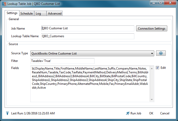 Lookup Table: From QuickBooks Online – Customer support and