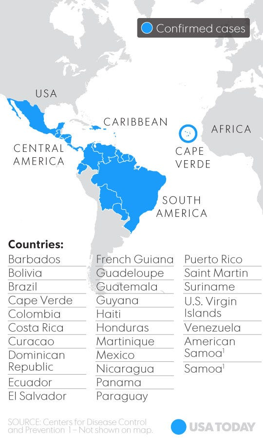 See Where The Zika Virus Has Spread In The Western Hemisphere