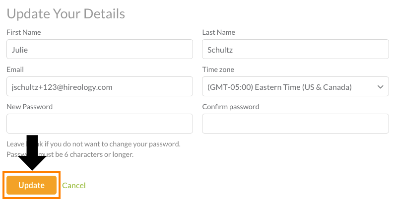 How do I edit my username/email/password?