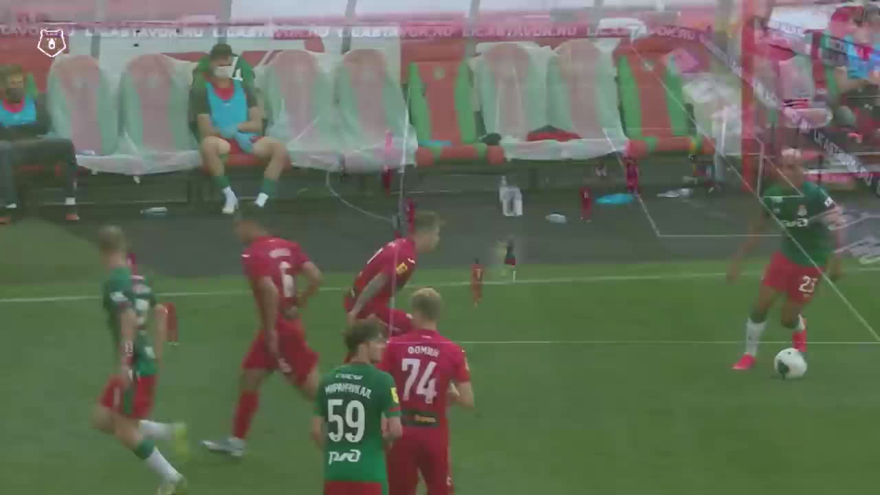 FC Lokomotiv Moscow [1]-1 FC Ufa - Jefferson Farfán 81' (10 minutes into his first appearance in 14 months after knee injury and COVID-19)