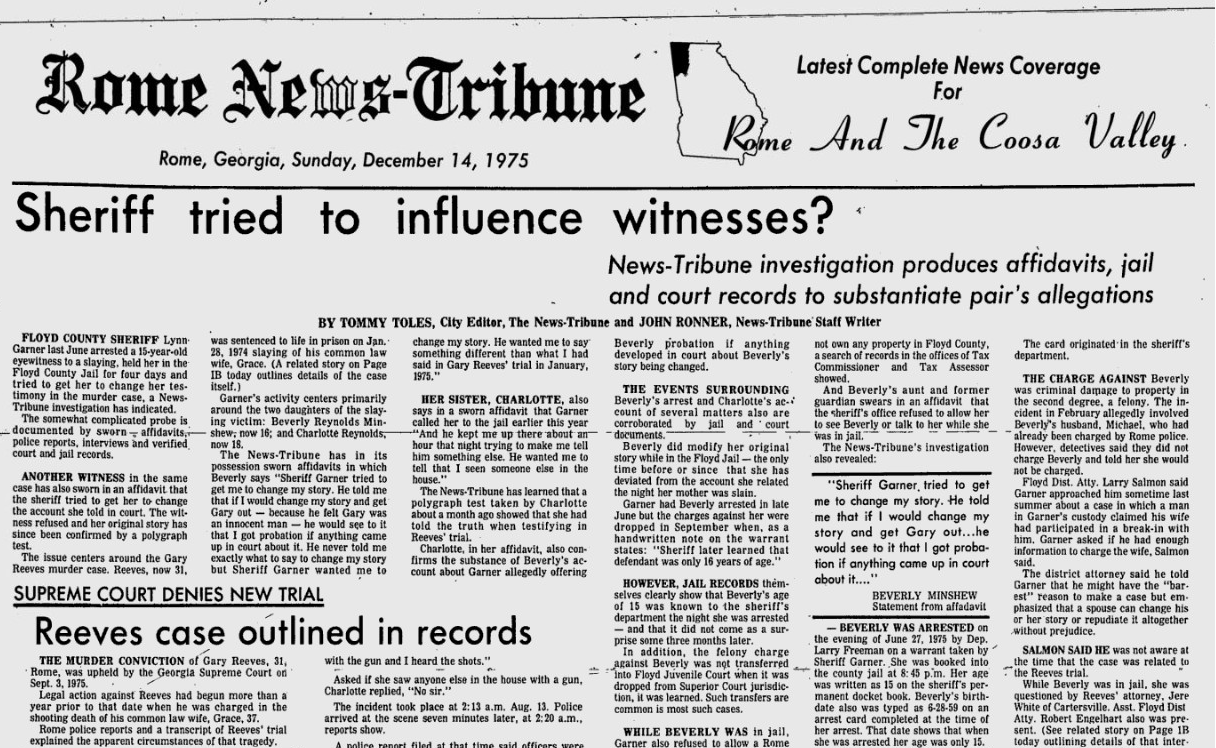 State v. Gary Mitchum Reeves – Episode 4 - Sheriff\'s Proxy ...