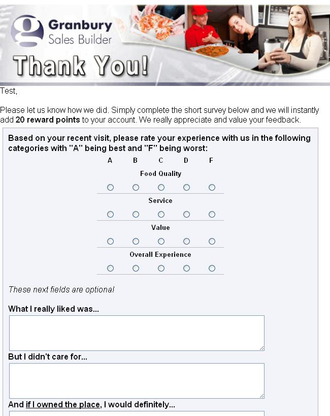Surveys – Granbury SalesBuilder Help & Feedback