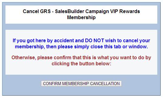 How Customers Can Opt-Out – Granbury SalesBuilder Help