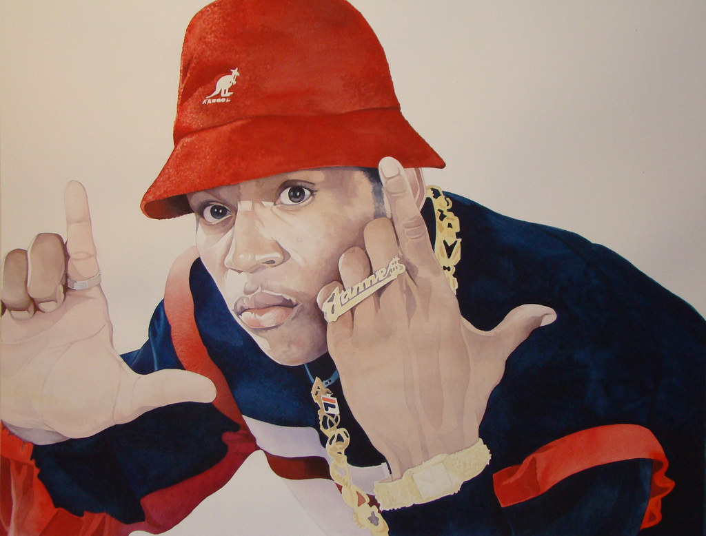 These hat could resemble a shark s fin when seen from the right angle. Here  is a watercolor painting of LL Cool J from Rap Genius editor HaringDMC. b728d281a18