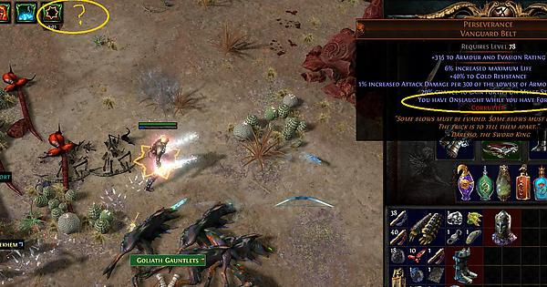perseverance not granting onslaught bug pathofexile