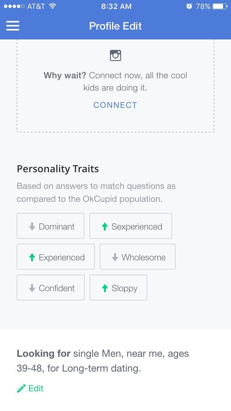 okupid dating persona dating uden brystvorter