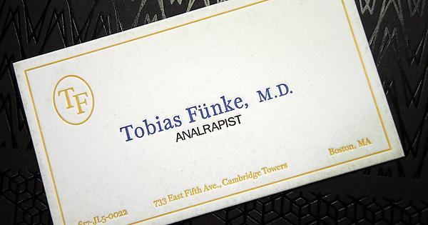 My custom letterpress tobias funke business card arresteddevelopment colourmoves