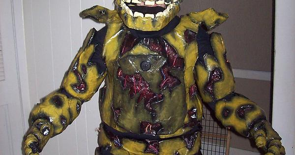 springtrap for halloween wearing the costume fivenightsatfreddys