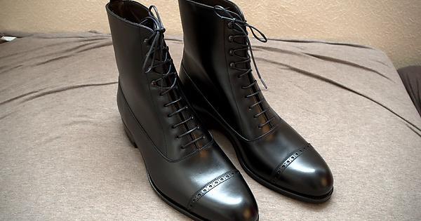 First Impressions Carmina X Skoak Black Balmoral Boots Goodyearwelt