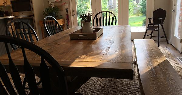 I Built A Farmhouse Table For My New Home That It Turns Out Doesnt Suck DIY