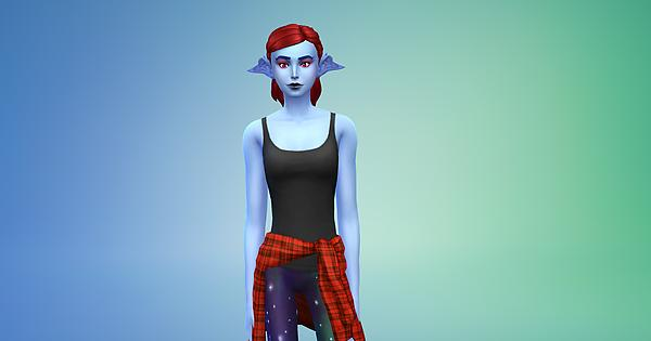 i tried to make undyne in the sims 4 undertale