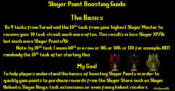 guide how to boost slayer points osrs 2007scape