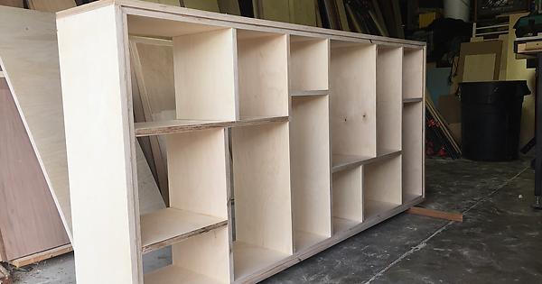 DIY Baltic Birch Plywood Bookcase