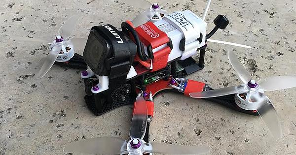 my new red and white 4 5 alien with mr steele motors multicopter
