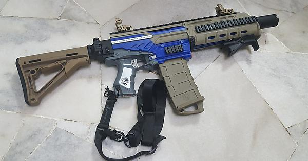 I haven't seen anyone discussing about the F10555 x Worker Masada  conversion kit for the Elite Alpha Trooper...So here's mine! : Nerf