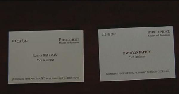 I just noticed that in the american psycho business card scene all i just noticed that in the american psycho business card scene all four people have the same contact info and are all vice president of the company reheart Image collections