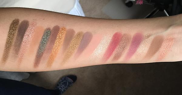 natasha denona star palette swatches review and eye look