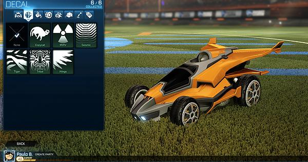 All 4 new cars aftershock esper marauder and masamune decals rocketleague