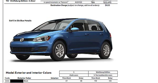 VW Pricing Golf GTI R Sportwagen Alltrack GolfGTI - Vw alltrack invoice price