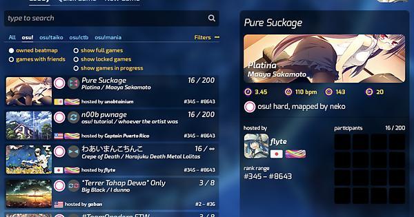 osu!lazer Multiplayer Dated Design : osugame