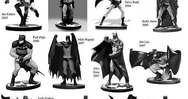A Complete List Of All The DC Batman Black And White Statues So Far 2005 2016
