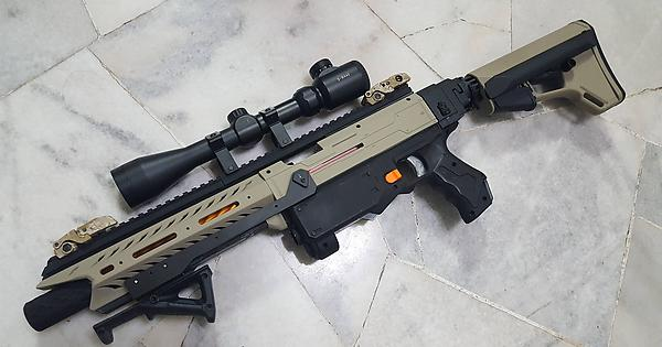 F10555 x Worker Viper Barrel assembled and finished. For display only. :  Nerf