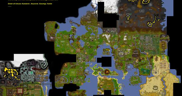 world map and current clue locations 2007scape